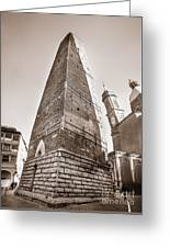 Garisenda Tower In Bologna Greeting Card