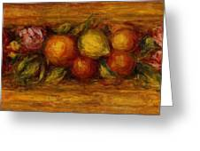 Garland Of Fruit And Flowers 1915 Greeting Card