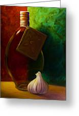 Garlic And Oil Greeting Card