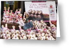 Garlic At A French Market Greeting Card