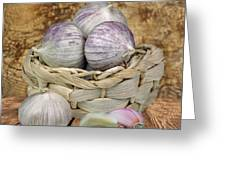 Garlic In The Basket Greeting Card