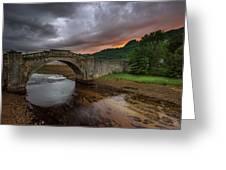 Garron Bridge Sunset Greeting Card