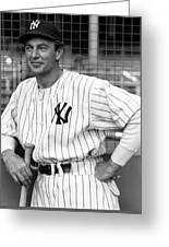 Gary Cooper As Lou Gehrig In Pride Of The Yankees 1942 Greeting Card
