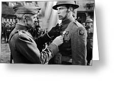 Gary Cooper Getting A Medal Of Honor As Sergeant York 1941 Greeting Card
