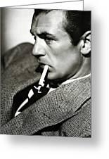 Gary Cooper Smoking C.1935 Greeting Card