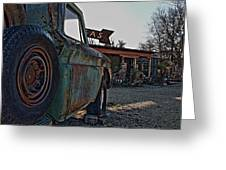 Gas And Truck Greeting Card
