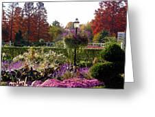 Gas Lamp In Garden Greeting Card