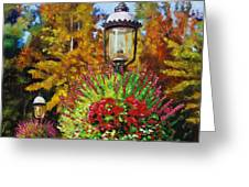 Gas Light Square Greeting Card