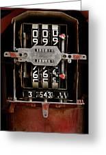 Gas Pump Meter Greeting Card