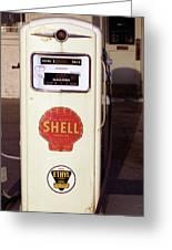 Gas Pump Greeting Card
