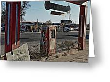 Gas Station Greeting Card