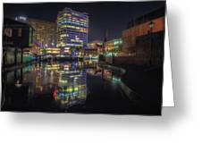 Gas Street Basin At Night Greeting Card