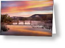 Gasconade River Sunrise Greeting Card