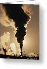 Gaseous Air Pollution Greeting Card