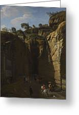 Gaspar Van Wittel  Called Vanvitelli Amersfoort 1652   1736   A View Of The Grotto At Pozzuoli With  Greeting Card