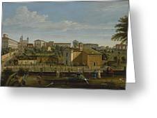 Gaspar Van Wittel  Called Vanvitelli Amersfoort 1652    1736   Rome  A View Of The Church Of Santi M Greeting Card