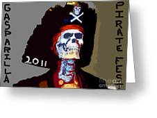 Gasparilla Pirate Fest Poster Greeting Card