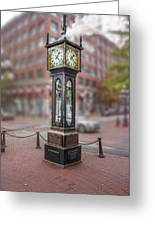 Gastown Steam Clock Greeting Card