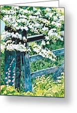 Gate And Blossom Greeting Card
