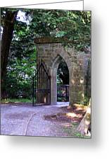 Gate At Cong Abbey Cong Ireland Greeting Card