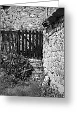 Gate At Dunguaire Castle Kinvara Ireland Greeting Card