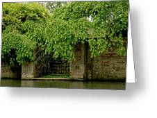 Gate To Cam Waters. Greeting Card