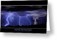 Gates To Heaven Color Poster Greeting Card