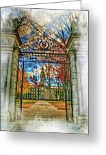 Gates To Knowledge Princeton University Greeting Card