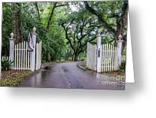Gates To Myrtle's Plantation In La Greeting Card