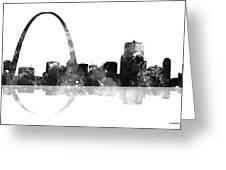 Gateway Arch St Louis Missouri Skyline Greeting Card