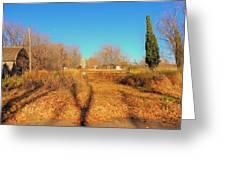 Gateway To A No Trespassing Farm Greeting Card