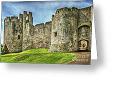 Gateway To Chepstow Castle Greeting Card