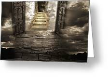 Gateway To Heaven Greeting Card by Andy Frasheski