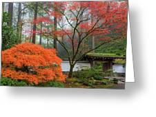 Gateway To Portland Japanese Garden Greeting Card