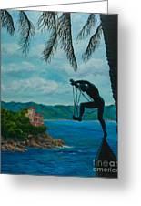Gateway To Portofino Greeting Card by Charlotte Blanchard
