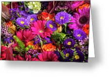 Gathered Garden Flowers Greeting Card