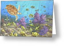 Gathering In The Reef Greeting Card