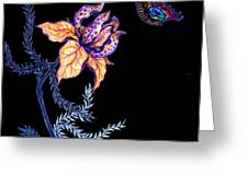 Gathering Nectar On Black Greeting Card