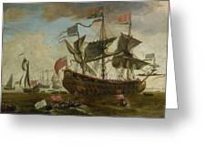 Gathering Of English Ships Greeting Card