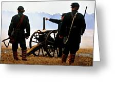 Gatling Gun On The Battle Field Greeting Card