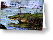 Gator Growl Greeting Card