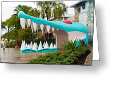 Gatorland In Kissimmee Is Just South Of Orlando In Florida Greeting Card