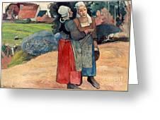 Gauguin: Breton Women, 1894 Greeting Card