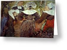 Gauguin: Breton Women Greeting Card
