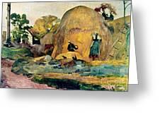 Gauguin: Haystacks, 1889 Greeting Card