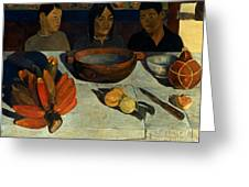 Gauguin: Meal, 1891 Greeting Card