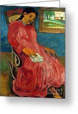 Gauguin: Reverie, 1891 Greeting Card
