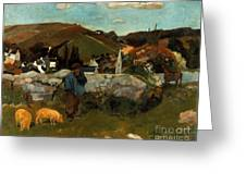 Gauguin: Swineherd, 1888 Greeting Card