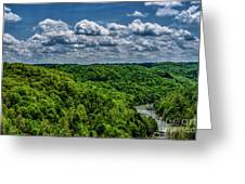 Gauley River Canyon And Clouds Greeting Card