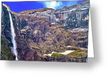 Gavarnie Circus Waterfall Greeting Card